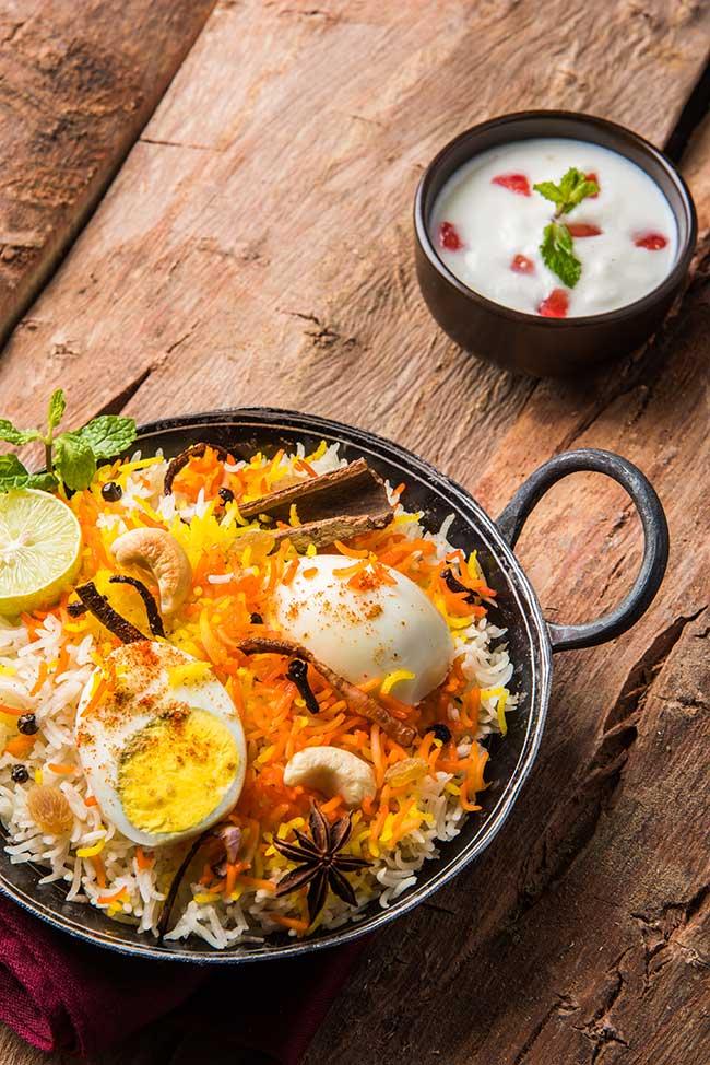 indian veg biryani main dish